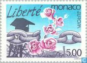 Postage Stamps - Monaco - Europe – Peace and freedom