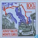 Postzegels - Monaco - 100 blauw/meerkleurig