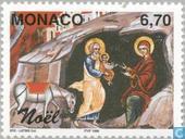 Postzegels - Monaco - Bijbelse voorstellingen