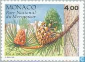 Postzegels - Monaco - Coniferen uit Mercantour-park