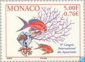Briefmarken - Monaco - Kongress Aquarianer