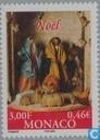 Postzegels - Monaco - Kerstkribbe