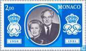 Postage Stamps - Monaco - Silver wedding anniversary