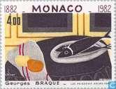 Postzegels - Monaco - Beroemde kunstenaars