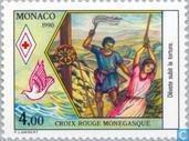 Timbres-poste - Monaco - Protéger Saint-
