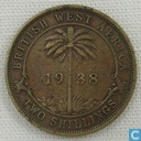 Brits-West-Afrika 2 shillings 1938 (H)