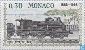 Postzegels - Monaco - Treinverbinding Nice-Monaco 1868-1968