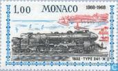 Timbres-poste - Monaco - Les services ferroviaires Nice-Monaco 1868-1968