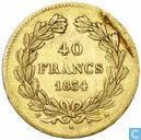 Frankrijk 40 francs 1834 (A)