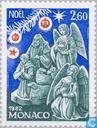 Postage Stamps - Monaco - Kerstkribbes