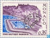 Postzegels - Monaco - Zwemstadion Ranier II
