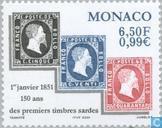 Postzegels - Monaco - Postzegeljubileum Sardinië