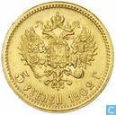 Rusland 5 roebel 1902