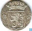 Munten - Holland - Holland 2 stuivers 1788