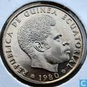 Guinée équatoriale 25 bipkwele 1980