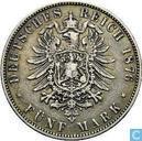 Hessen-Darmstadt  5 mark 1876