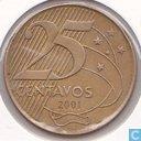 Brasil 25 centavos 2001