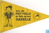 Doe als Piet Pelle en fiets op een Gazelle