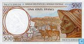 Centr.Afr.Stat. 500 francs E