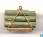 Pallet met hout