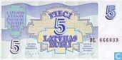 Lettonie 5 Rubli