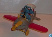 Flying Smurf plane