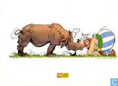 Obelix met neushoorn