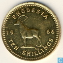 Rhodesia 10 Shillings 1966 (PROOF)