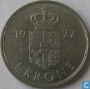 Denmark 1 krone 1977