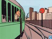 Kuifje Spoorwegzegel - postkaart