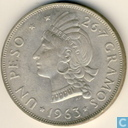 Dominican Republic 1 peso 1963
