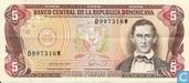 Dominican Republic 5 Pesos Oro 1990