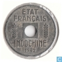 Frans Indochina ¼ centime 1942
