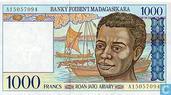 Madagascar 1000 Francs (P76a)