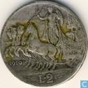 Italien 2 Lire 1910