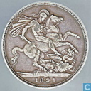 United Kingdom 1 crown 1891