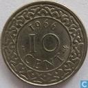 Suriname 10 cents 1966