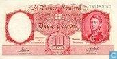 Argentine 10 Pesos 1951
