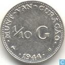 Curacao 1/10 gulden 1944