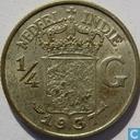Nederlands-Indië ¼ gulden 1937