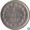 Pays basque 1 peseta 1937