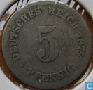 German Empire 5 pfennig 1875 (F)