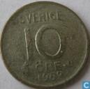 Schweden 10 Öre 1962 (alte Ausführung)
