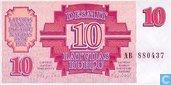 Letland 10 Rubli