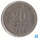 Montenegro 20 para 1906