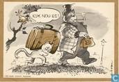 Ansichtkaart P.v.d.A. - Vrij naar Marten Toonder
