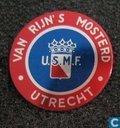 Van Rijn's Mosterd Utrecht U.S.M.F. [blauw-rood]