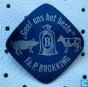 """Fa. P. Brokking """"Geef ons het beste"""" [blauw]"""