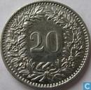 Coins - Switzerland - Zwitserland 20 rappen 1963