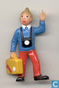 Tintin avec boîtier et caméra